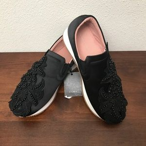 ZARA BEADED PATCH SNEAKERS